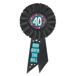 40 and Over The Hill Ribbon Rosette Ribbon