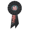 60 and Over The Hill Rosette Ribbon