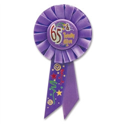 65 and Totally Alive Rosette Ribbon