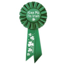 Kiss Me I'M Irish Rosette