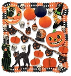 Vintage Beistle Halloween Party Kit (29 Pieces Per Kit)