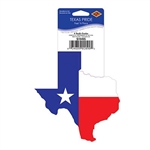 The Texas Pride Peel 'N Place - Mini are in the shape of Texas and printed with the Texas flag. Measure 4 3/4 inches tall and 4 1/4 inches wide. Easy, removable, and adhere to most smooth surfaces. One per package.