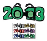 2013 Glittered Plastic Graduation Eyeglasses (1 pair of glasses/pkg)