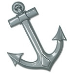 Gray Plastic Ships Anchor (1/pkg)