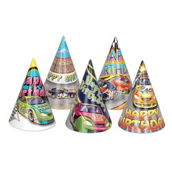 Race Car Birthday Hat (sold 12 per box)