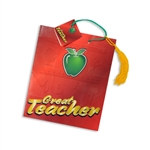 Great Teacher Tassel Gift Tote