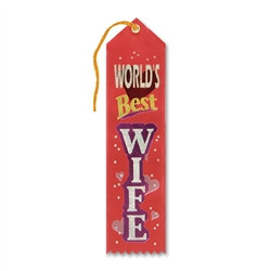 World's Best Wife Valentine Ribbon