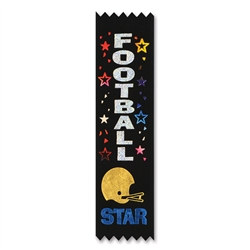 Football Star Value Pack Ribbons (10/Pkg)
