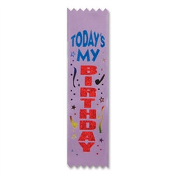 Today's My Birthday Value Pack Ribbons (10/Pkg)
