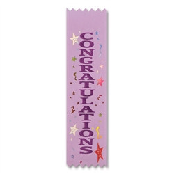 Congratulations Value Pack Ribbons (10/Pkg)