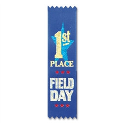 Field Day 1st Place Value Pack Ribbons (10/Pkg)