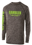 Long Sleeve Performance Black Lime