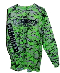 Long Sleeve Solar Performance Shirt Digital Green