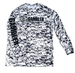 Long Sleeve Solar Performance Shirt Grey Camo