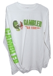 Long Sleeve Performance Shirt White Full Color Logo