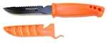 "Evolution 4"" Bait Knife/Utility Knife Orange Black Blade"