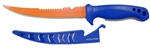 "Evolution 6"" Filet Knife Blue Handle Orange Blade"