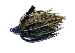 GOAT Swim Jig Black Blue Green Pumpkin 5/16oz