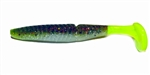 "There's another addition to the EZ Swimbait family!  The 3.75"" EZ Vibe combines all the features of our best selling boot tail lure with some modifications to add VIBRATION!  Featuring a ribbed body design the ridges provide subtle undulation while swimmi"