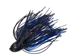 Double Weedguard Jig 1oz Black Blue Purple