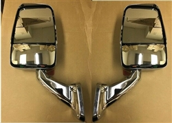 713806 Velvac Pair of Chrome 2025 Mirrors Includes Installation Wiring and Switch Kit