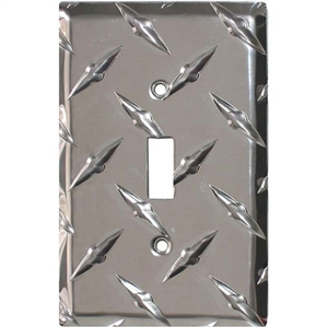 Performance World 11 Diamond Chrome Single Cover Light Switch Plate