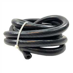 "Performance World 110004HD 1/4"" ID x 10ft Black Reinforced Silicone Boost/Vacuum Hose"
