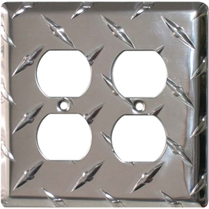 Performance World 22 Diamond Chrome Quad Outlet Cover