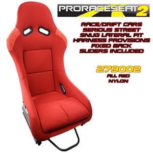 "Performance World 279002 ProRaceSeat2â""¢ Performance Racing Seat Red"