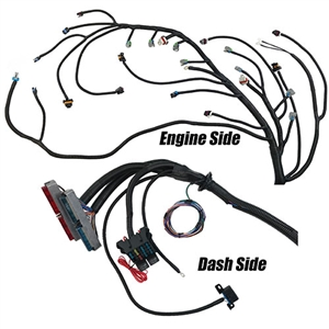 Performance World 329059 2005 - 2014 Gen IV 24X LS2/LS3 with T56 or Non-electric A/T Engine Swap Wiring Harness