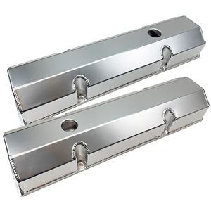 Performance World 366145 SB Chevrolet 265-400 Fabricated Aluminum Valve Covers
