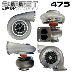 Performance World 397574110B Boost by PWTurbo 7574 (S475) Billet Wheel Turbocharger 1.10 A/R 55 Trim