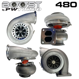 Performance World 398074110B Boost by PWTurbo 8074 (S480) Billet Wheel Turbocharger 1.10 A/R 50 Trim