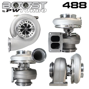 Performance World 398888132B 8888 (S488) Billet Wheel Turbocharger 1.32 A/R 57 Trim