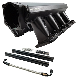 Performance World 646513 FLOW EFI LS3 Fabricated Intake Manifold and Fuel Rail Kit. 92mm or 102mm. Tall profile design.
