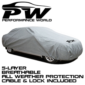 Performance World 900004 5-Layer Weather Car Cover XLarge