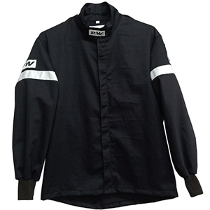 Performance World 951412 Medium Black Single Layer Racing Jacket SFI 3.2A/1
