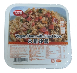 Vegan Ham with Fried Rice