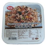 Vegan Sesame Chicken with Fried Rice