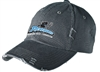 DISTRICT THREADS DISTRESSED LOW PROFILE CAP = 2 COLORS