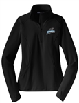 SPORT TEK WICKING STRETCH 1/2 ZIP PULLOVER WITH THUMBHOLES = 2 COLORS