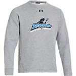 UNDER ARMOUR HUSTLE COTTON BLEND CREW SWEATSHIRT