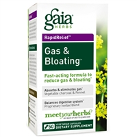 Gas & Bloating (50 Capsules) by Gaia Herbs