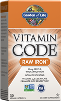 Vitamin Code RAW Iron (30 Capsules) Garden of Life