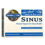 Herbal Immune Balance Sinus (60 Capsules) Garden of Life