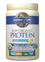 Raw Organic Protein Vanilla (624g Powder) Garden of Life