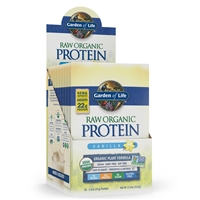 RAW Protein Vanilla Single Serving Packet (22g Powder) Garden of Life