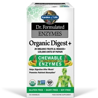 Dr. Formulated Organic Digest + Enzymes (90 Chewables)