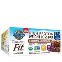 Organic Fit Bars - Chocolate Almond Brownie (box of 12) Garden of Life