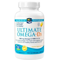 Ultimate Omega D3 (120 Softgels) Nordic Naturals